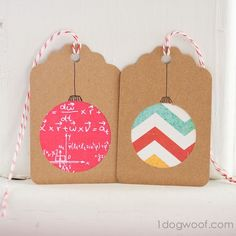 Make homemade Christmas gift tags
