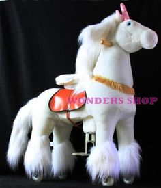 Ponycycle Pony Cycle Ride On Horse No Need Battery No Electric Just Walking Horse WHITE UNICORN - Size SMALL for Children 2 to 5 Years Old by Ponycycle Pony Cycle. $349.99. PONYCYCLE are a giant leap in the evolution of Riding Horses!    Product Description PONYCYCLE are a giant leap in the evolution of Riding Horses!  Instead of traditional Rocking Horses and Spring Horses which keep the rider in one spot,  PONYCYCLE allows your child to ride wherever he wants,...