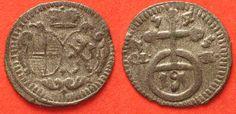 1745 Brandenburg-Bayreuth Germany BRANDENBURG-BAYREUTH Pfennig 1745 FRIEDRICH billon XF-UNC!!! # 87745 EF-UNC Bayreuth Germany, Coin Prices, Friedrich, Coins, Personalized Items, Brandenburg