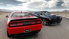 Dodge introduced its most powerful Challenger ever on Tuesday. The SRT Hellcat will do battle with other super-high-performance pony cars like the Ford Mustang and Chevy Camaro . Mustang Gt500, Ford Mustang, 2015 Dodge Challenger Hellcat, Dodge Srt, Doge Challenger, Chevrolet Camaro, Dodge Charger, Car Wallpapers, Counting Cars