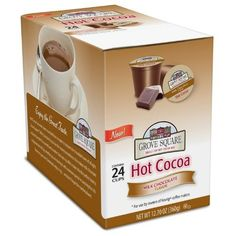 Grove Square Hot Cocoa Cups  Milk Chocolate  Single Serve Cup for Keurig K-Cup Brewers  24-Count: http://www.amazon.com/Grove-Square-Hot-Cocoa-Chocolate/dp/B005K4Q1VI/?tag=httpbetteraff-20