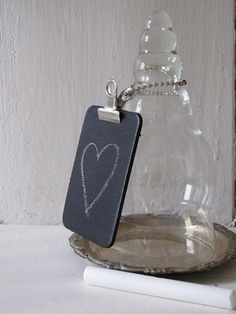 mini chalkboards to use for messages and reminders around the house or office. I think I'll make one and leave on the front door, and another by the phone.