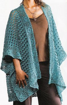 Indispensable Ruana pattern by Lisa Gentry