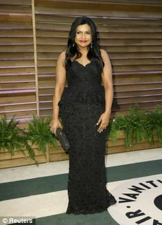 Mindy Kaling + gown