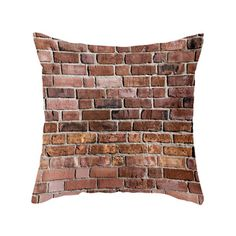 Hit the Bricks Pillow Cover Dot & Bo Industrial Chic Decor, Industrial Living, Industrial Farmhouse, Modern Industrial, Urban Loft, Steampunk Design, Beds For Sale, Exposed Brick, Ideas