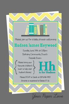 Story Book Theme Baby Shower Invitation by YourPaperLove on Etsy, $12.50