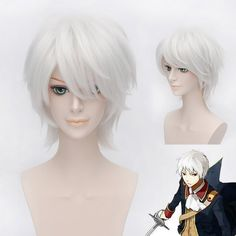Fashion Fluffy Side Bang Silvery White Charming Short Straight Gilbert Beilschmidt Cosplay Wig #jewelry, #women, #men, #hats, #watches