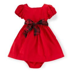 Cotton Sateen Dress & Bloomer - Baby Girl Dresses & Skirts - RalphLauren.com