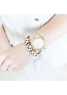 Glam And Glitter Statement Bracelet #fashion #style #clear #delicatebracelets #bracelets - 24,90  @happinessboutique.com
