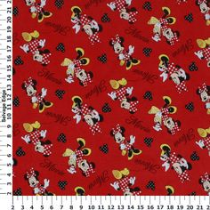 Minnie Loves to Shop Cotton Flannel Fabric