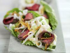 Asiatischer Rindfleischsalat mit Reisnudeln ist ein Rezept mit frischen Zutaten aus der Kategorie Rind. Probieren Sie dieses und weitere Rezepte von EAT SMARTER!