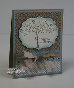 """By Lynn Weiss. Uses Stampin' Up stamp set """"Thoughts and Prayers."""""""