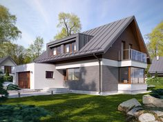 DOM.PL™ - Projekt domu TP Limbo - DOM TP1-85 - gotowy projekt domu