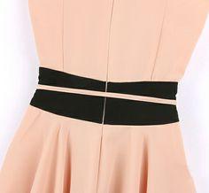 Classical Round Neck A Line Dress