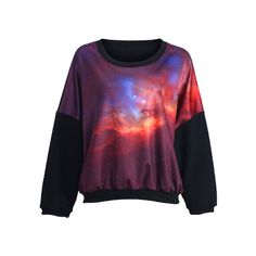 Mysterious Universe Print Pullover ($42) ❤ liked on Polyvore