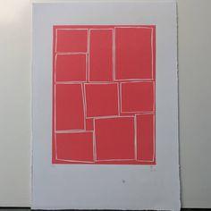 "Lino print ""My Order 3"""