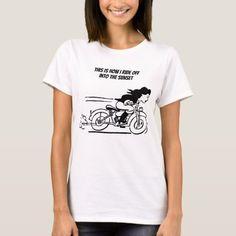 Woman Riding Motorcycle Biker Chick Art T-Shirt   biker short, motorcycle couple quotes, biker kids #motorbike #bikersofindia #superbikeofig, 4th of july party