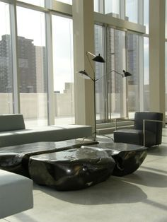 Attirant Coal Tables By Jim Zivic In The Ralph Pucci International Showroom, NYC.