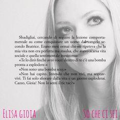 SO CHE CI SEI, Elisa Gioia.