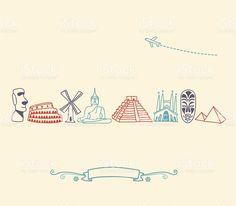 International iconos, lugares y destinos turísticos de la ciudad international iconos lugares y destinos turísticos de la ciudad - arte vectorial de stock y más imágenes de viajes libre de derechos