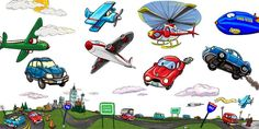 Car, plane and helicopter decals by Muralistick.  The perfect way to turn your child's room into a zooming motor raceway (in mere minutes)! Application of these stick-on hand-painted murals couldn't be easier! Check out more information, pictures and themes for your little one here: www.muralistick.com