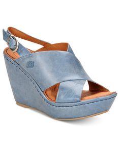 Born Shoes, Emmy Platform Wedge Sandals - Born - Shoes - Macys