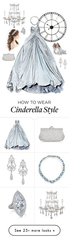 """""""Cinderella"""" by atwellsr on Polyvore featuring Universal Lighting and Decor, Zac Posen, Wrapped In Love, Alexis Bittar and Monsoon"""