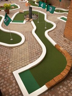 Minigolf in your garden... #golf #DIY