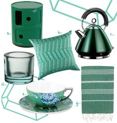 Emerald home accessories