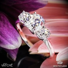 Classic styling meets supreme comfort with the Vatche X-Prong 3 Stone Engagement Ring. Beautiful lines crisscross to create a stunning home for your diamonds, which will allow for maximum exposure and total security.