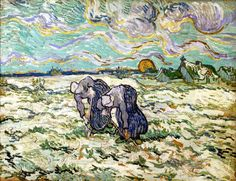 Van Gogh, Two Peasant Women Digging in a Snow-Covered Field, Spring 1890. Oil on paper on canvas, 49.3 x 64 cm. Foundation E.G. Bührle Collection, Zürich.