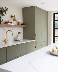 Kitchen Room Design, Modern Kitchen Design, Home Decor Kitchen, Interior Design Kitchen, Home Design, Home Kitchens, Small Apartment Kitchen, Small Space Interior Design, Studio Kitchen