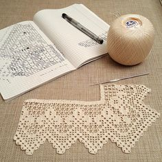 Hand crocheted border, filet crochet lace trim, linear or turning edge for home decor, wide lace border, cream fine crochet handmade edging