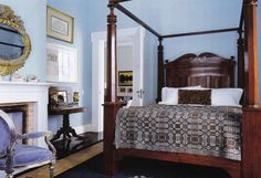 The Blue Bedroom at Crow House