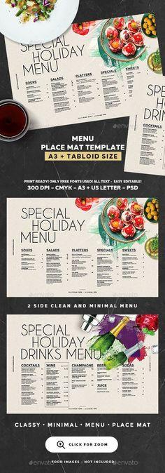 Menu Template — Photoshop PSD #cafe #cocktail menu • Download ➝ https://graphicriver.net/item/menu-template/19244975?ref=pxcr
