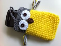 Owl crochet iPhone, iPod, cell phone case