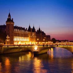 Seine River Bridge, Paris, France