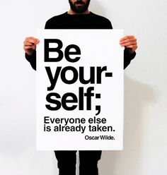 Be yoursel poster 50 x 70 posterOffset by Marideestudio on Etsy