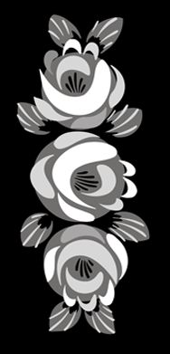 Special Interest Rose Trio  stencils, stensils and stencles