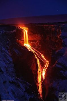 7. Lava Fall into #Hvannargil, Iceland - 40 #Pictures Showing the #Awesome Force…