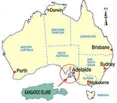 Kangaroo Island Australia Map.Travel Times To Kangaroo Island Kangaroo Island Kangaroo Island