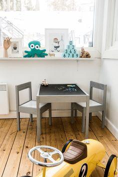 IKEA-hack: Lätt barnbord med griffelskiva – Husligheter.se