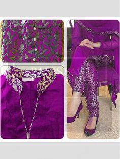 Purple Color Bollywood Replica Designer Party Wear Dress in violet color dress design - Violet Things Designer Party Wear Dresses, Kurti Designs Party Wear, Salwar Designs, Dress Designs, Brocade Suits, Brocade Dresses, Pakistani Dress Design, Pakistani Dresses, Salwar Kameez