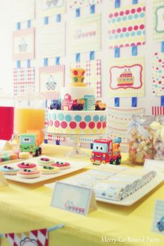 Merry-Go-Round: Traffic + Transportation Themed Dessert Table