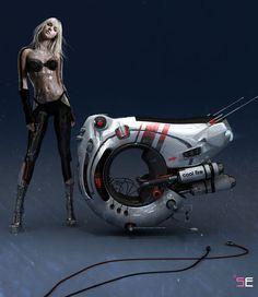 Galactic Bang, personal vehicle, Sergey Ermakov, futuristic concept, sci-fi vehicle, future transportation