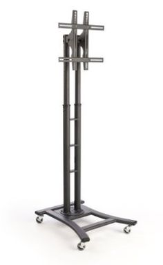 awesome Mobile TV Stand with Wheels for LCD, Plasma or LED Monitors Between 32 and 65 inches, Height-Adjustable - Black - For Sale Check more at http://shipperscentral.com/wp/product/mobile-tv-stand-with-wheels-for-lcd-plasma-or-led-monitors-between-32-and-65-inches-height-adjustable-black-for-sale/