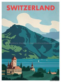 Switzerland Poster by IdeaStorm Studios ©2017. Available for sale at ideastorm.bigcartel.com