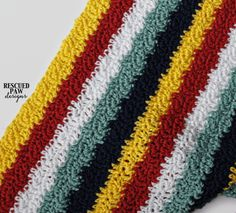 """Here is Rescued Paw Designs newest crochet blanket pattern the """"Wavy Ways Blanket"""". The wavy ways works up super fast and is… Striped Crochet Blanket, Crochet Quilt, Afghan Crochet Patterns, Crochet Stitches, Crochet Hooks, Crochet Blankets, Baby Blankets, All Free Crochet, Learn To Crochet"""