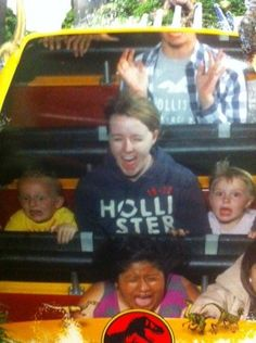 Funny Roller Coaster Photos @Justine Tynes  oh the memories!
