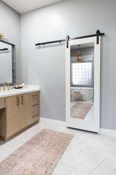 Bathroom of the Week: Airy, Boho Look and a Wood Vanity Large Baths, Wood Vanity, Boho Look, Mirror, Bathroom, Frame, Furniture, Home Decor, Washroom